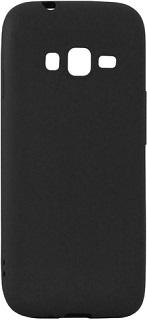 Силиконовая накладка для Samsung Galaxy J1 mini prime черная  - купить со скидкой