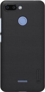 Пластиковая накладка для Xiaomi Redmi 6 Nillkin черная фото