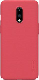 Пластиковая накладка для OnePlus 7 Nillkin красная фото