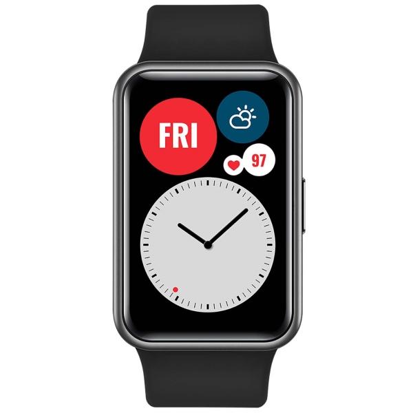 Часы HUAWEI Watch Fit графитовый черный смарт часы huawei watch fit tia b09 1 64 черный черный [55025871]