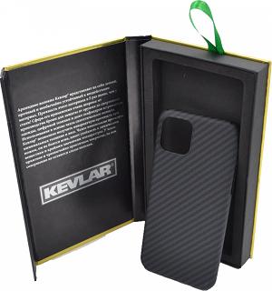 Кевларовая накладка для iPhone 11 Cabal Premium черно-серая фото