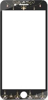 Защитное стекло с Swarovski для iPhone 7/8 Kavaro Crown черное