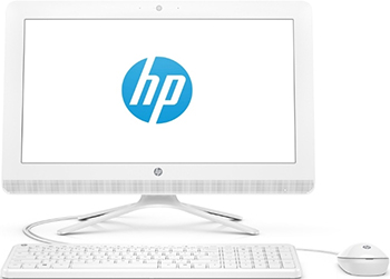 "Моноблок HP 20-c432ur AiO 19.5""(1920x1080)/ Celeron J4005(2Ghz)/4Gb/500Gb/noDVD/Int:Intel HDG 600/Cam/BT/WiFi/war 1y/4.4kg/Snow White/W10+USB KBD, USB MOUSE (7JT13EA)"