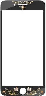 Защитное стекло с Swarovski для iPhone 7/8 Kavaro Butterfly черное