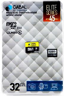 Фото - Карта памяти Cabal MicroSDXC 32 Гб карта памяти