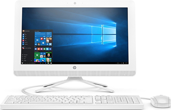 "Моноблок HP 20-c431ur AiO 19.5"" 1920x1080/AMD A4 9125(2.3Ghz)/4Gb/500Gb/noDVD/Int:AMD Radeon R3 Series /Cam/BT/WiFi/war 1y/4.4kg/Snow White/W10 + USB KBD, USB MOUSE (7JT07EA)"