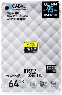 Фото - Карта памяти Cabal MicroSDXC 64 Гб карта памяти