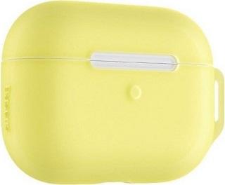 Силиконовый чехол для AirPods Baseus Pro Lets go с карабином желтый  - купить со скидкой