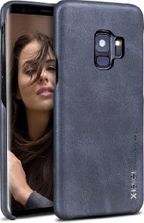 Кожаная накладка для Samsung Galaxy S9 X-Level Vintage черная  - купить со скидкой