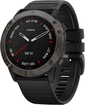 Умные часы Garmin Fenix 6X Sapphire DLC умные часы garmin fenix 6x pro solar титановый с титановым браслетом серый