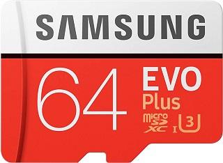 Фото - Карта памяти SAMSUNG microSD 64GB EVO Plus карта памяти
