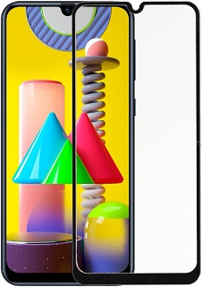 Защитное стекло для Samsung M 31 Cabal полноэкранное черное фото