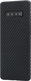 Кевларовая накладка для Samsung Galaxy S10 Plus Cabal Premium черно-серая фото