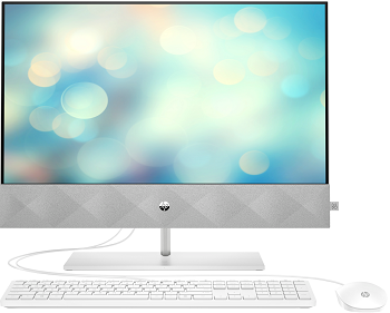 Моноблок HP Pavilion 24 AiO 24-k0006ur AMD Ryzen 3 4300U 4GB DDR4 3200(1x4GB) 256GB SSD NVMe AMD Graphics Non-Touch White - FHD display ? 5MP Camera Win10 kbd mouse wired white (C/G) (1Y2H5EA)