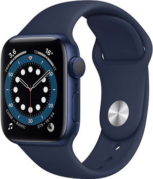 Apple Watch Series 6 GPS 40mm Aluminum Case with Sport Band синий/темный ультрамарин MG143