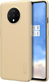 Пластиковая накладка для OnePlus 7T Nillkin золотая фото