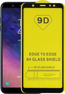 Защитное стекло для Samsung Galaxy A6 2018 9D полноэкранное черное в техпаке фото