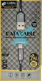 Кабель Lightning Cabal Premium CP-DCB-3221 серебристый