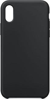 Силиконовая накладка для Apple iPhone X/XS Cabal черная фото