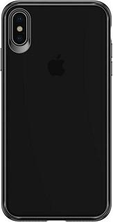 Пластиковая накладка для iPhone XS Usams Mant Series черный кант  - купить со скидкой