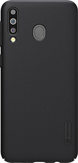 Пластиковая накладка для Samsung Galaxy M30 Nillkin черная фото