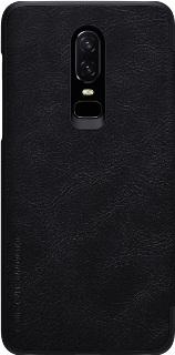Кожаный чехол для One+6T Nillkin BookCover черный фото