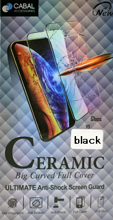 Защитное стекло Ceramic для Samsung A 41 Cabal полноэкранное черное фото