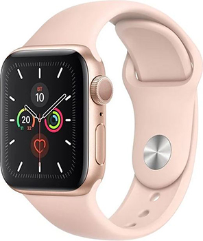 Apple Watch Series 5 GPS 44mm Aluminum Case with Sport Band золотистый/розовый песок MWVE2