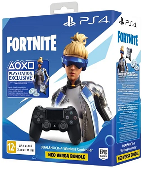 Геймпад Sony Dualshock 4 v2 + Fortnite