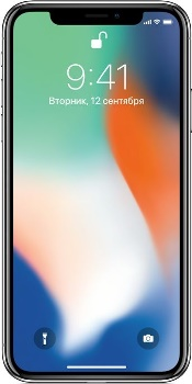 Apple iPhone X 256GB 1901 silver (серебристый)