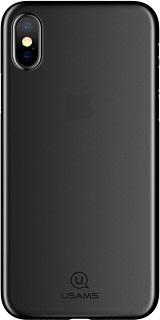 Пластиковая накладка для iPhone XS Usams Gentle Series черная  - купить со скидкой