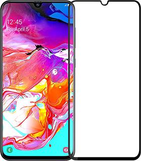 Защитное стекло для Samsung Galaxy A70 9D полноэкранное черное в техпаке фото