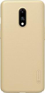 Пластиковая накладка для OnePlus 7 Nillkin золотая фото
