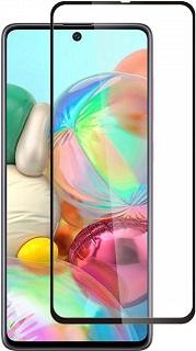 Защитное стекло для Samsung A71 Cabal полноэкранное черное фото