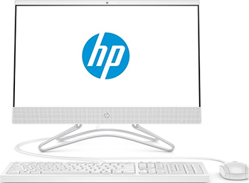 "Моноблок HP 22-c0031ur 21.5"" Full HD i5 8250U (1.6)/8Gb/1Tb 7.2k/GT MX110 2Gb/DVDRW/CR/Free DOS 2.0/GbitEth/WiFi/BT/90W/клавиатура/мышь/Cam/белый 1920x1080 (4GS83EA)"