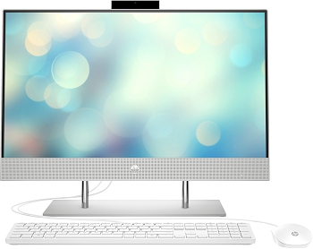 "Моноблок HP 24-dp0013ur AiO 23.8"" 1920x1080/Touch/Ryzen 5 4500U 2.3Ghz/8Gb/512SSD/noDVD/Int:AMD Gr-cs /Cam/WiFi/w1y/Natural silver/W10 + USB KBD, USB MOUSE (14Q16EA)"