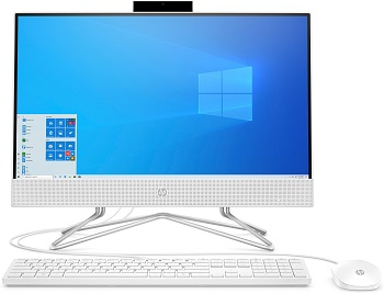 "Моноблок HP 24-df0033ur 23.8"" Full HD PS J5040/4Gb/SSD256Gb/UHDG 605/CR/W10/kb/m/белый 1920x1080 (14Q04EA)"